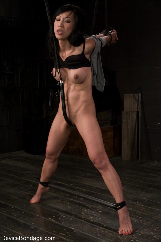 Tia Ling, our hot little Asian bondage slut, gets taken the ...