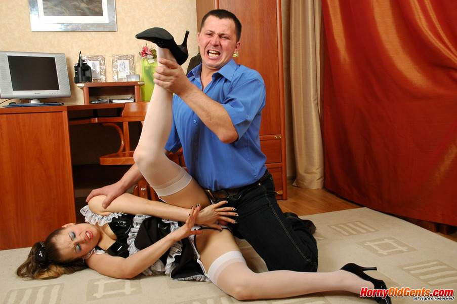 French maid forced