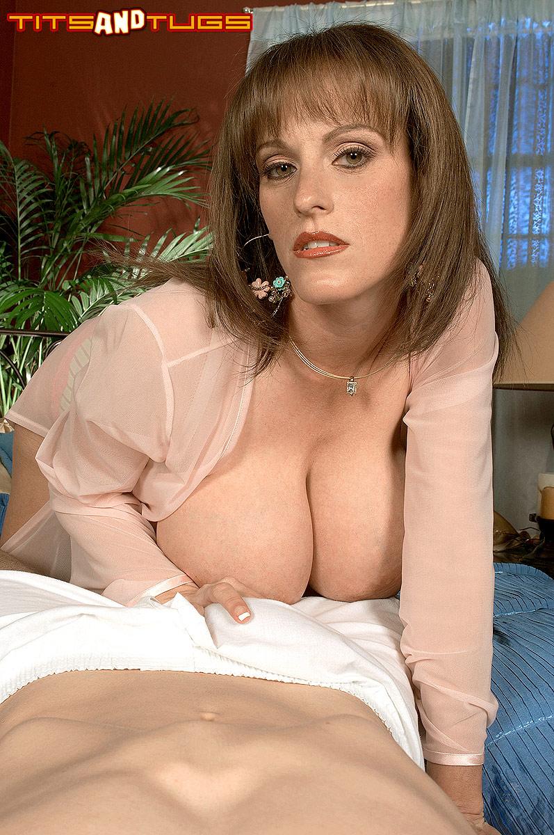 Big boobs with dick inbetween