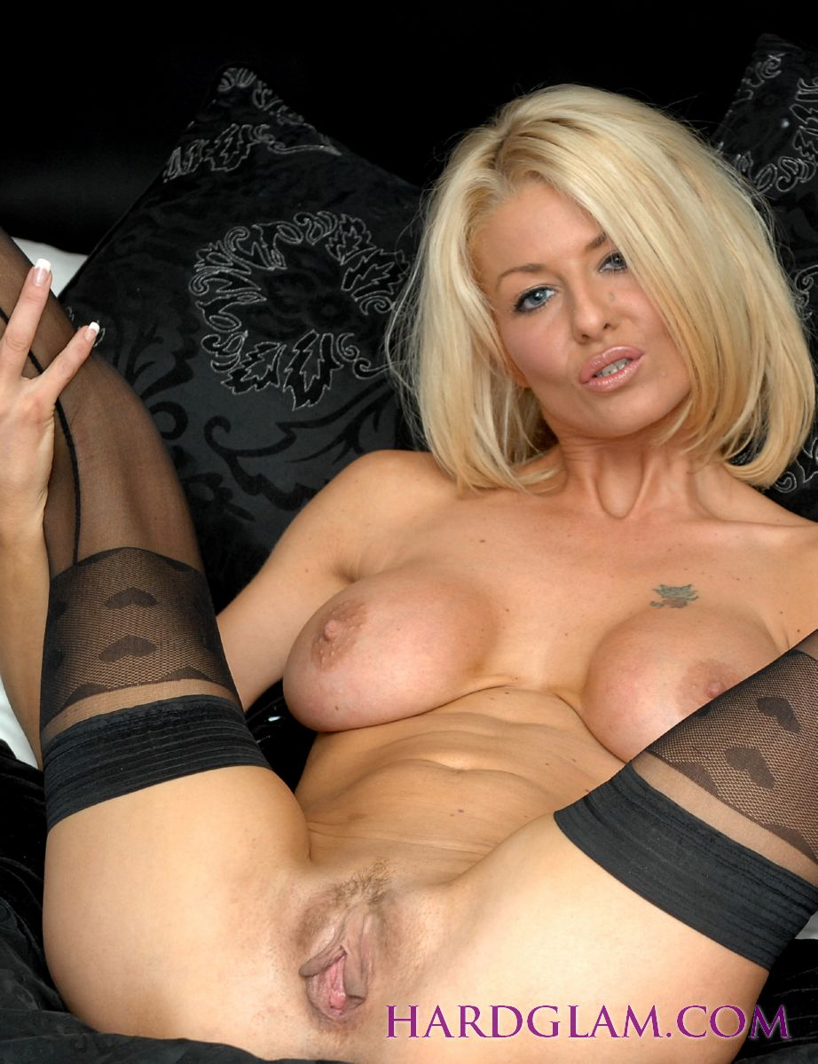 British Mature Stockings Solo
