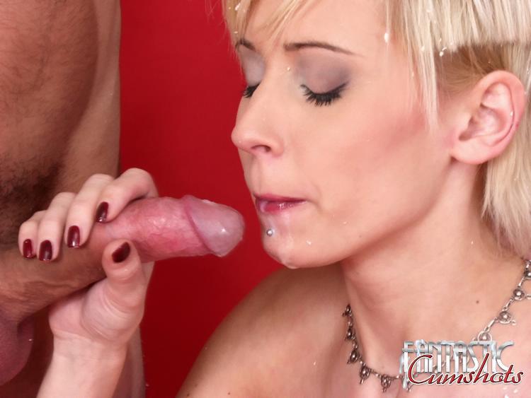 Big Tit Blonde Blowjob Swallow