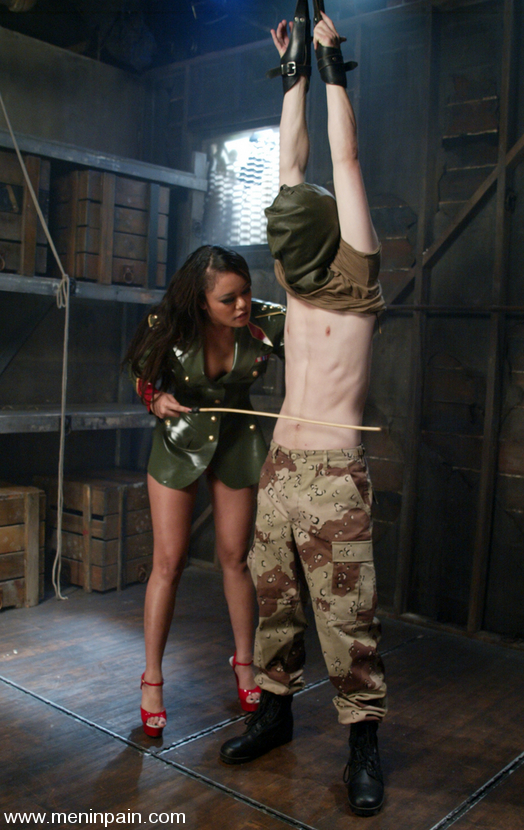 Militant Mistress Annie Cruz gets new recruit CJ into heavy submission with  strict predicament bondage and painful domination.