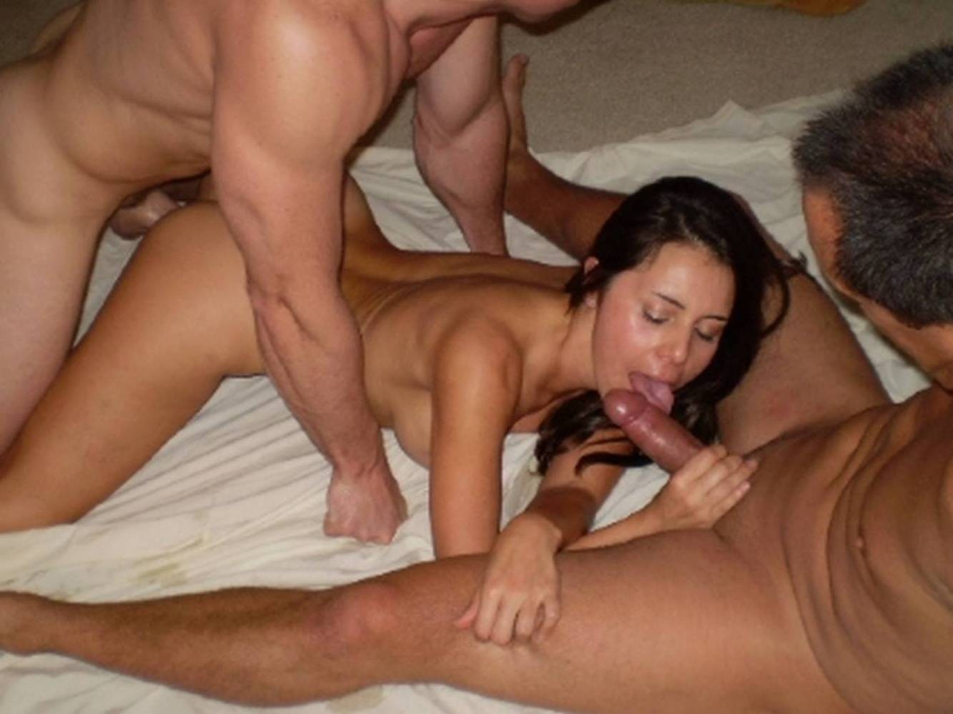 Amateur British Wife Threesome