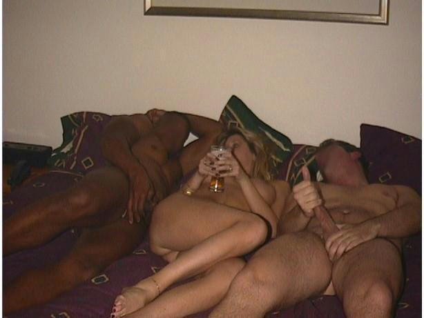 Teen with three cocks in one pussy