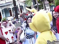 Fantasy Fest girel real xxx Street Party
