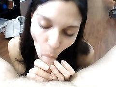 Hot amateur girl sucks and rides cock POV