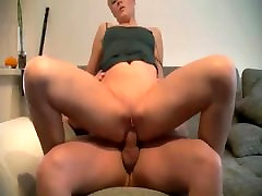 German Blonde takes painful anal