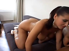 Brunette Takes sandesh bandara Black Cock In Her Ass
