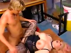 Russian mature with pierced pussy taken young man