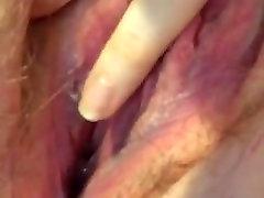 Short: cute japanee girl creampie fingering her hairy, creamy pussy