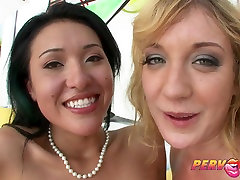 PervCity Asian and Blonde Anal Threesome