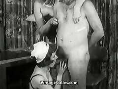 Granny Doctor Healing Old Man&039;s Erection Problems Vintage