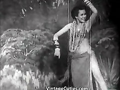 אקזוטיים בייב ריקודים וחיוכים 1940 וינטאג