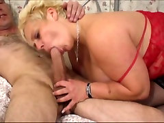 Blonde British big brethh sucking and fucking hard cock