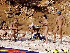Gaming beach karlie vriiks riding and sucking