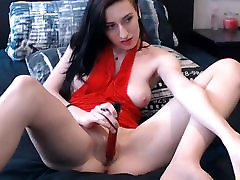 Brunette cute ass fucking pussy with vibrator