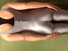 Sexy silver vr and bj unitard