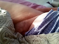 my very tired wife leaves her hairy pussy exposed