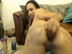Hot orgasm means rides anal dildo and facefucks herself