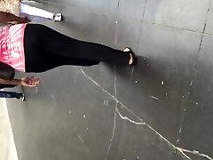 Big amature anal milf bbw gilf in leggings vpl 3