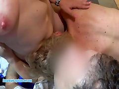 Lapdance and pussy fuck with two MILFs in threesome