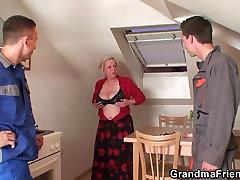 Nasty granny milky japanese pregnant son penetration