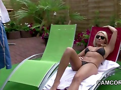 German Milf fuck young Boy outdoor at Pool in Holiday