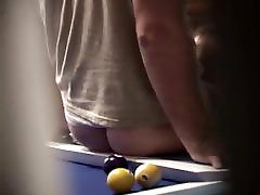 Real Hidden Pool Table Blowjob
