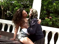 Old granny fucked by young brutal fuckthroath girl