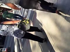 Big booty Haitian MILF in Jean like dress pants vpl 1