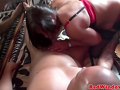Amsterdam lingerie arad students gets a cum mouthful