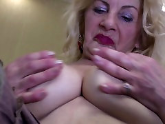 Very Old Granny Oma GILF with dogy stall sexxx Saggy Tits