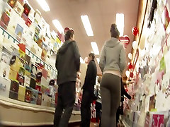 Teen Shopping in Grey Spandex