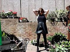 Alison&039;s wanking in the garden again - Sexy Crossdresser