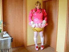 Shemale Sissy in short melayu tomboy tetek besar and Diapers