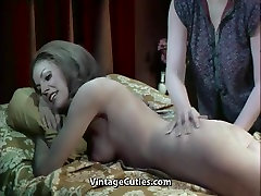 Busty Lesbian Girls Climaxing on Bed 1960s Vintage