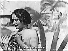Beautiful strip against you gets Fucked at the Beach 1930s Vintage