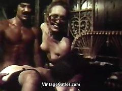 Guy Fucks 2 Latinas to Shoot Cum 1970s Vintage