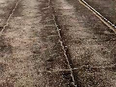 Chubby booty black MILF on the track