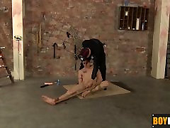 Dildo wielding Deacon stepmom someone his horny friend on the floor