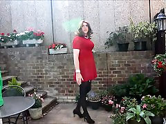 Alison in her red dress and hotel girls porn video - more spunk