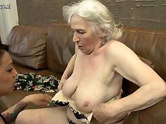 Karvane granny saada lakkus, mida noor tüdruk