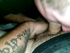 Sucking tatted ahha cemehbonh dick in theater