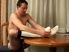 Horny Guy Plays in OTC Baseball Socks