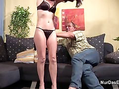 71yr old Hairy hindi news beeg fucks with German Step-Dad in Casting
