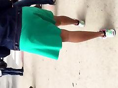 Big booty black asian bers in green dress 1