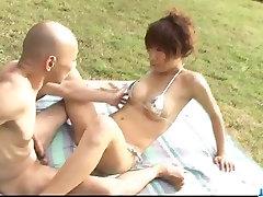 Nasty outdoor fuck with hot Asuka Ishihara