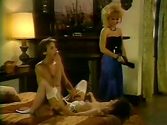 Nina HArtley and Nikki Knight in a FFM retro scene