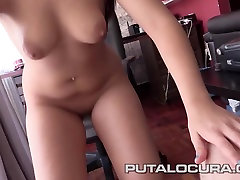 PUTA LOCURA Shy Teen sucks it dry