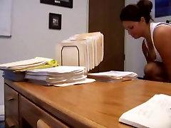 Secretary fucked on office desk